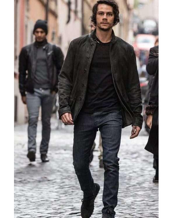 Dylan O Brien Black Leather Jacket