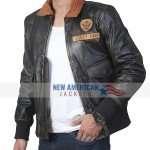 Nick Jonas Brown Leather Jacket
