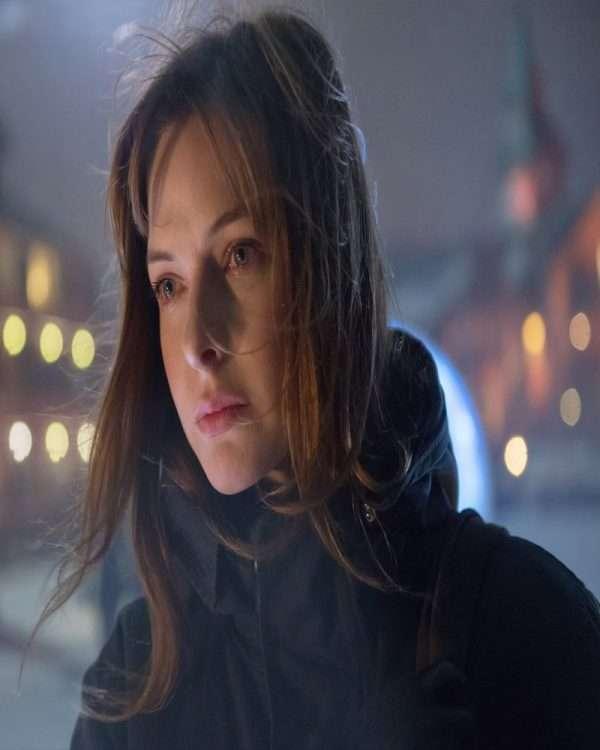 Rebecca Ferguson The Snowman Coat