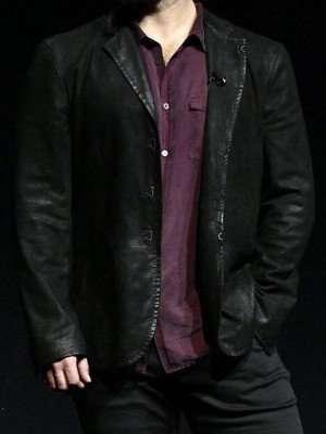 Henry Cavill Black Leather Jacket coat