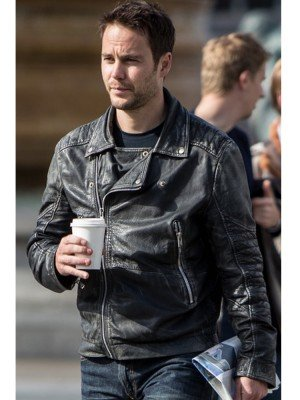 Taylor Kitsch Black Leather jacket