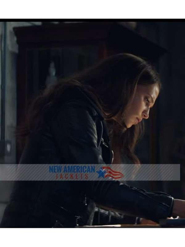 Alicia Vikander Leather Jacket