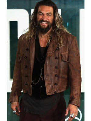 Jason Momoa Brown Leather Jacket