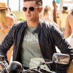Baywatch Zac Efron Blue Leather Jacket