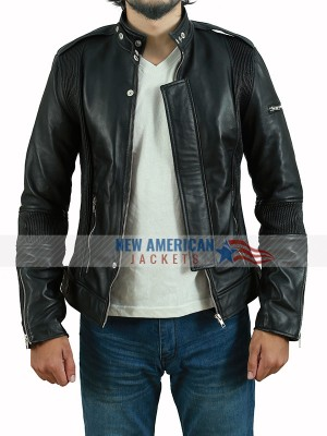Black Daft Punk Electroma Leather Jacket