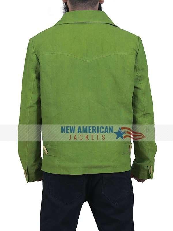 Jamie Foxx Django Green Cotton Jacket