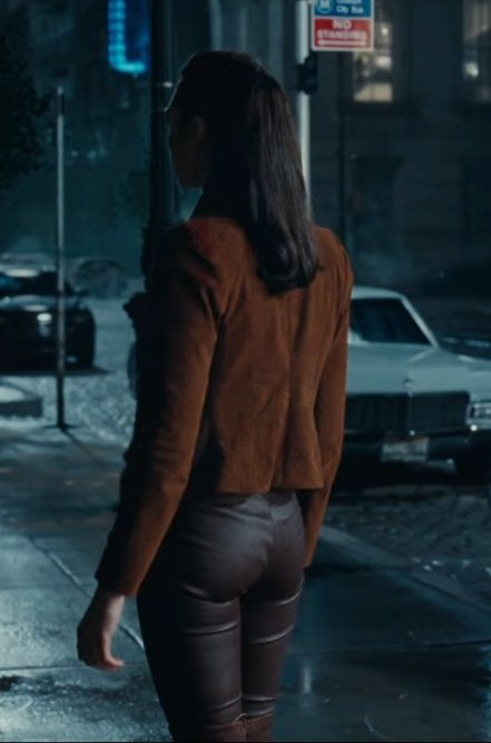 Justice League Gal Gadot Brown Jacket