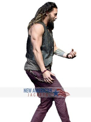Justice League Jason Momoa Leather Vest
