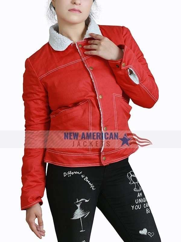 Nancy Wheeler Shearling Cotton Jacket