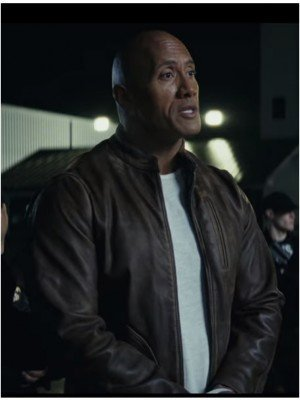 Rampage Dwayne Johnson Brown Leather Jacket