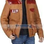 The Mountain Between Us Idris Elba Brown Leather Jacket