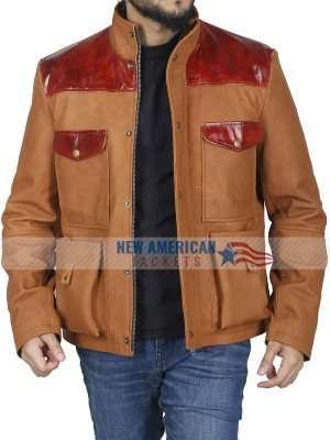 Idris Elba The Mountain Between Us Leather Jacket
