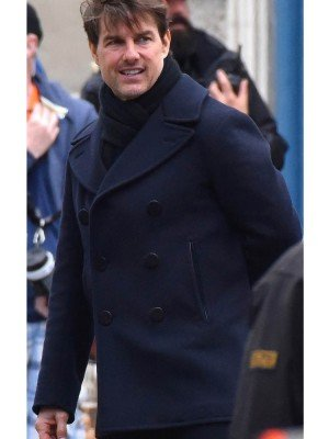 Tom Cruise Black Wool Coat