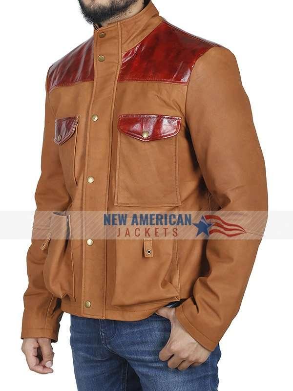 Us Idris Elba Brown Leather Jacket