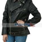 Atom Cats Black Biker Leather Jacket