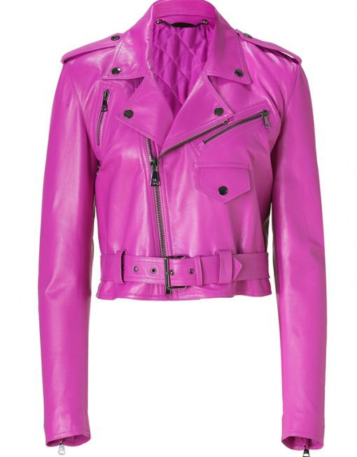 Hot Pink Leather Jacket
