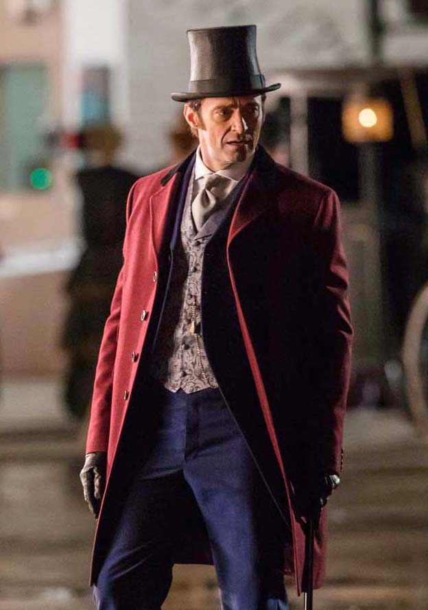 The Greatest Showman Hugh Jackman Red Coat New American