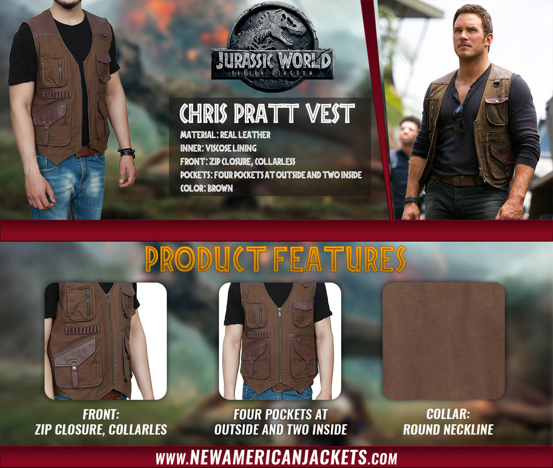 Jurassic World Owen Grady Leather Vest