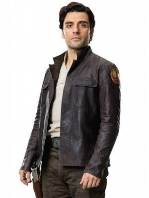 The Last Jedi Poe Dameron Brown Leather Jacket