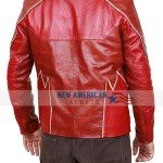 Barry Allen Red Leather Jacket