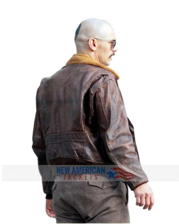 James Franco Brown Fur Jacket