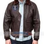 Jfk bomber Leather Jacket