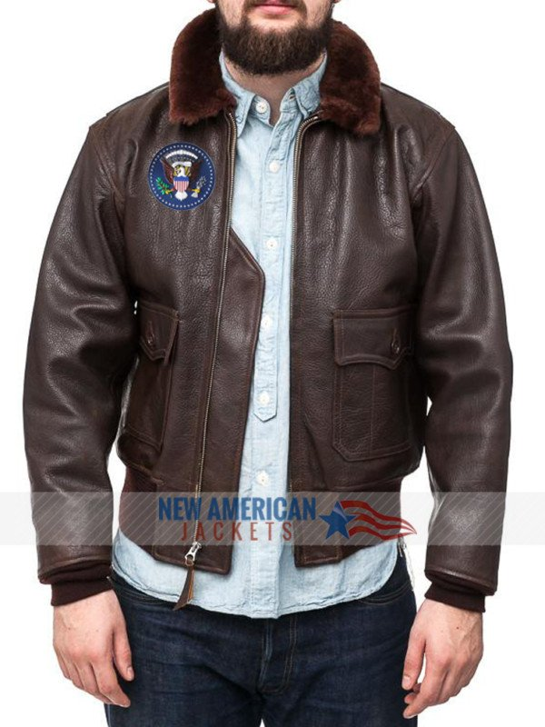 Jfk bomber Leather Jacket