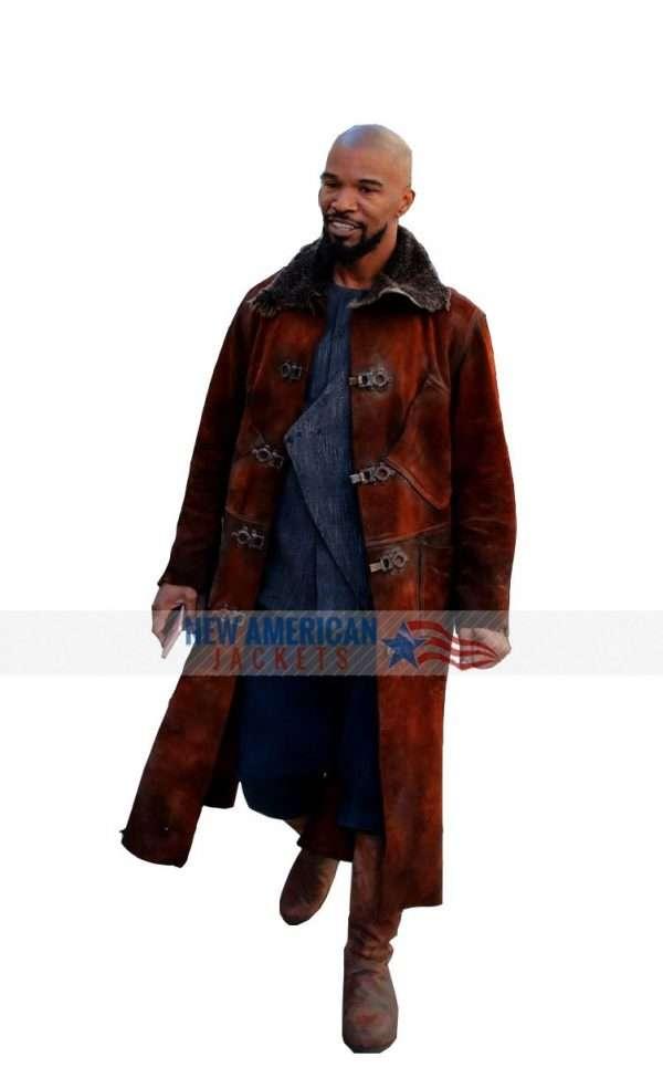 Robin Hood Little John Suede Leather Coat