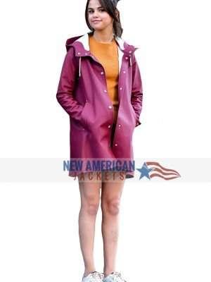 Selena Gomez Burgundy Jacket