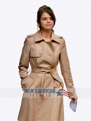 Selena Gomez Camel Color Coat
