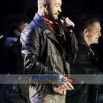 Halftime Show Justin Timberlake Leather Jacket