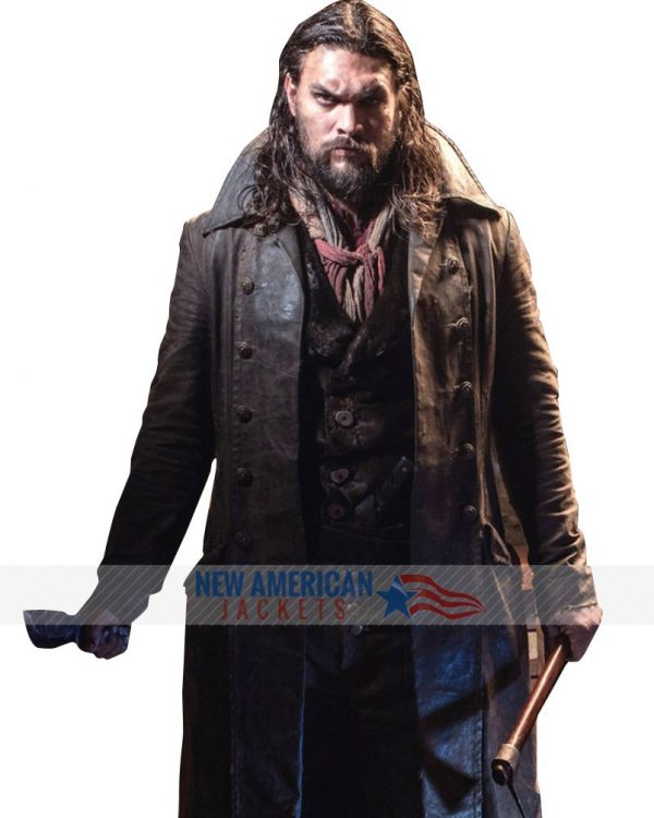 Jason Momoa Frontier Leather Trench Coat