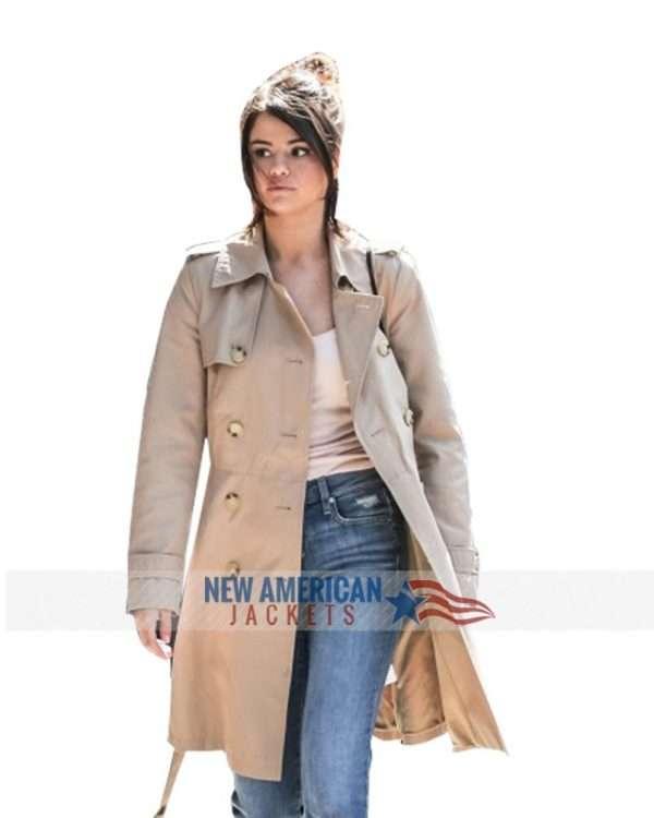 Selena Gomez A Rainy Day In New York Long Coat