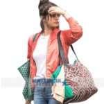 Selena Gomez A Rainy Day In New York Red Jacket