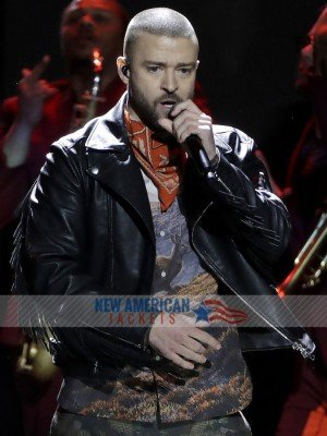 Super Bowl LII halftime show Justin Timberlake Leather Jacket