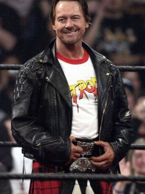 Wrestler Roddy Black Leather Jacket