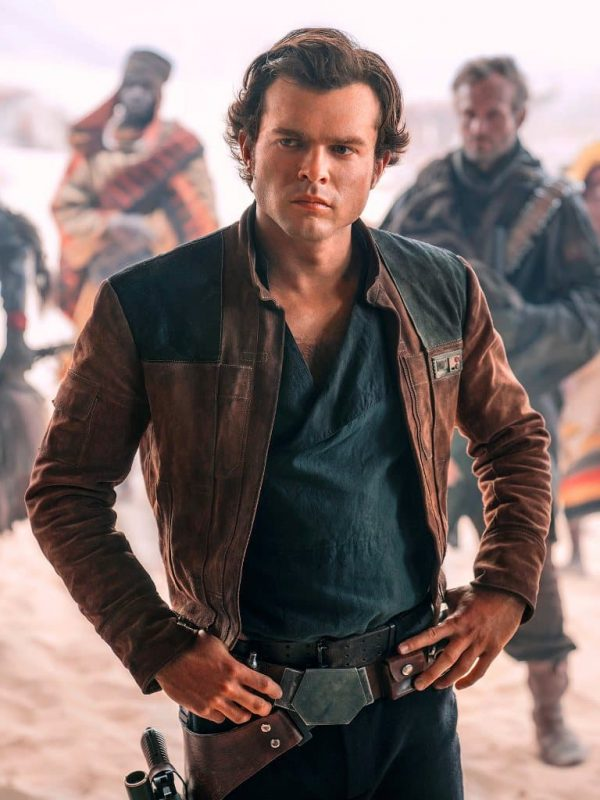 Alden Ehrenreich Solo A Star Wars Story Leather Jacket