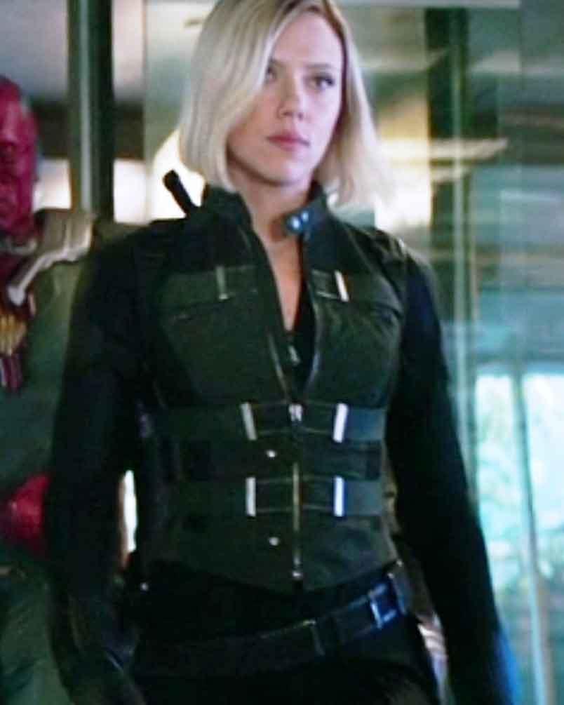 Avengers Infinity War Black Widow Vest New American Jackets