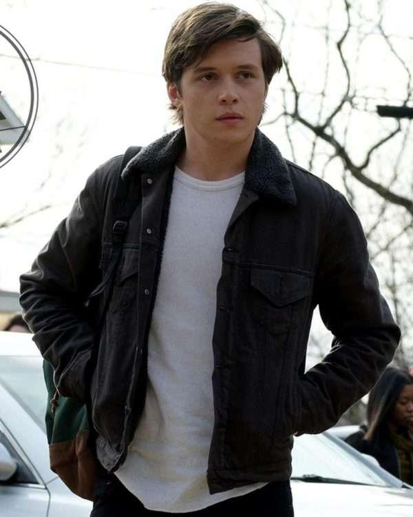 Love Simon Nick Robinson Black Denim Jacket