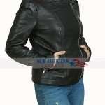 Rachel McAdams Game Night Black Biker Leather Jacket