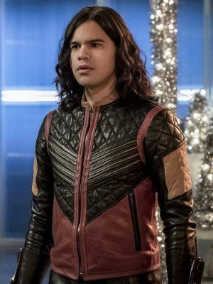 The Flash Cisco Carlos Valdes Leather Jacket