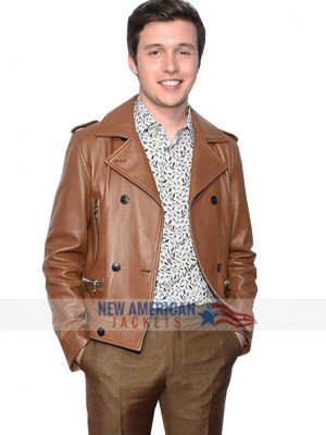 Love Simon Brown Leather Jacket