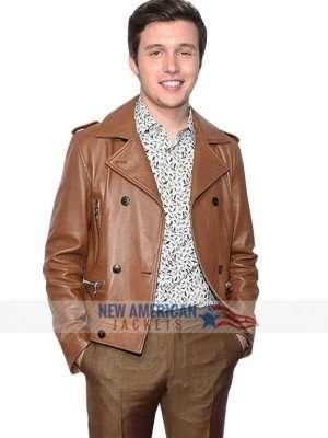 Love Simon Brown Leather Jacket
