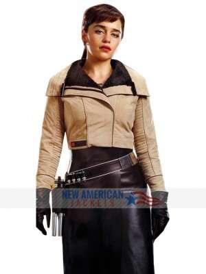 Solo A Star Wars Story Emilia Clarke Leather Jacket