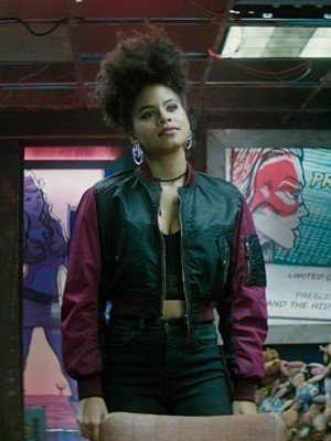 DeadPool 2 Zazie Beetz Domino Black Jacket