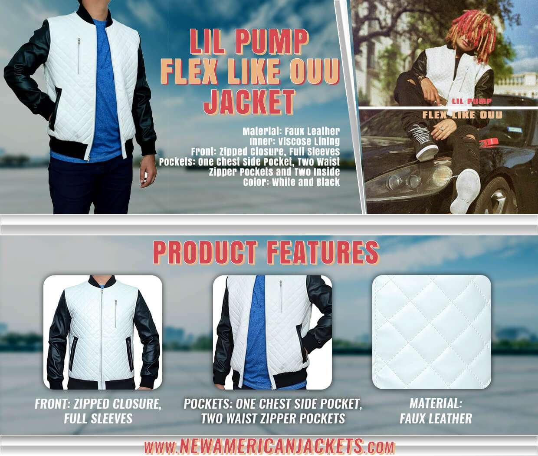 Flex Like Ouu Lil Pump Leather Jacket