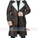 Fallout 4 Elder Maxson Brown Shearling Coat