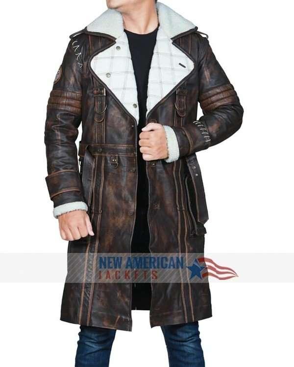 Fallout 4 Elder Maxson Brown Shearling Coat