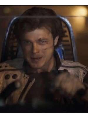 Han Solo a Star Wars Story Alden Ehrenreich Leather Vest