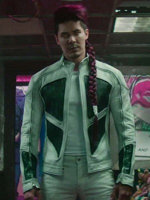 Lewis Tan Shatterstar Leather Jacket